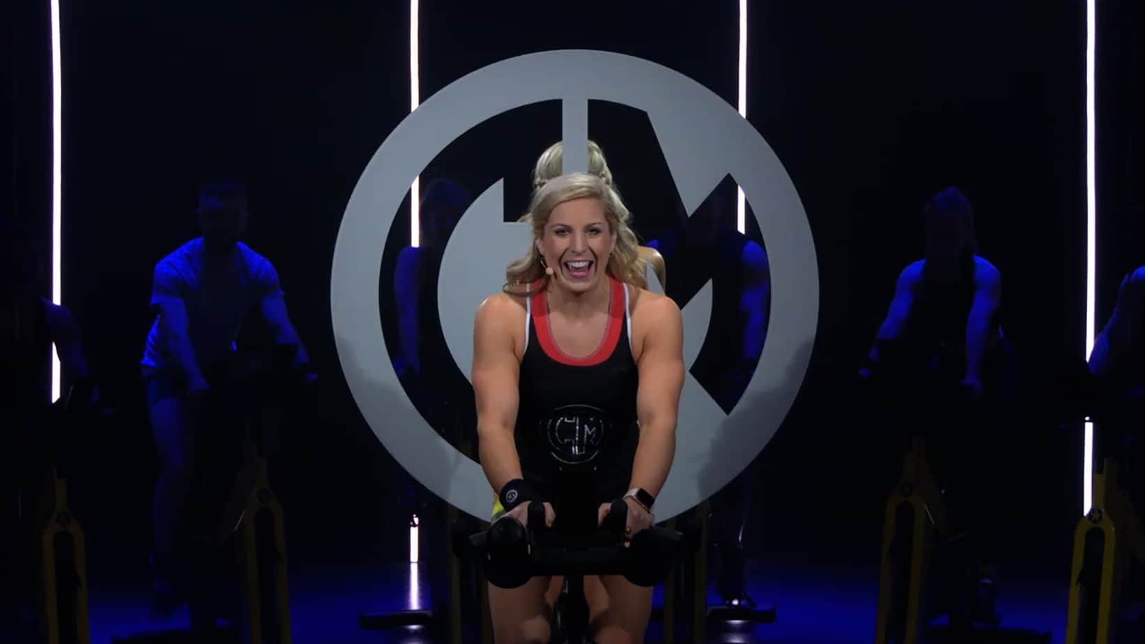 Cycling instructor Melissa Power