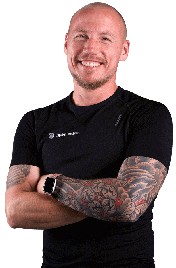 Cycling instructor Jochem ten Bohmer