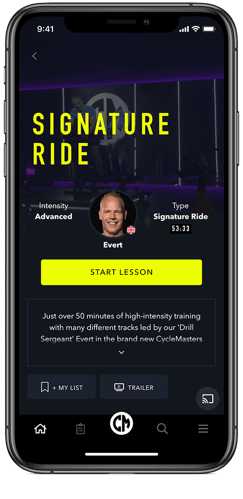 Example Indoor Cycling workout App
