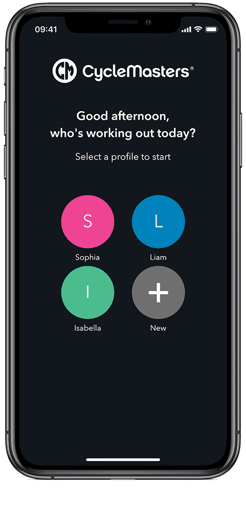 Indoor Cycling App multiple profiles